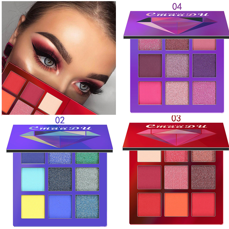 Beauty Essentials Eye Shadow Cmaadu Matte And Shimmer Eyeshadow Palette Professional Party Makeup 9 Colors Fashion High Pigment Eye Shadow Cosmetics Women