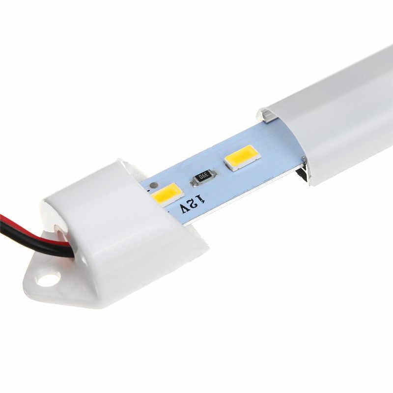 CLAITE 36 LED バーライト DC12V 50 センチメートル SMD 5730 リジッド Led ストリップライト 6.4 ワットピュアホワイトウォームホワイト防水ストリップライトカバー