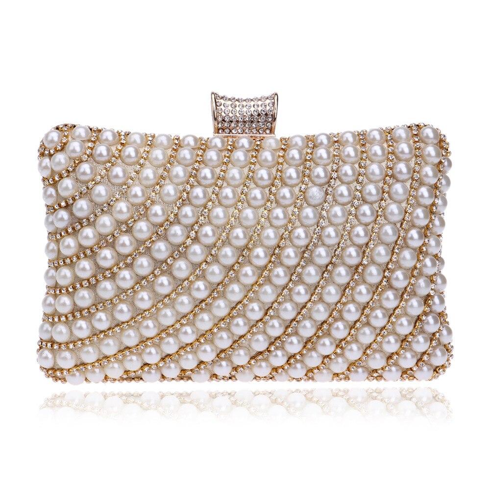 Women Handbags Purse Chain Evening-Clutch-Bag Rhinestones Evening-Party-Holder Diamonds