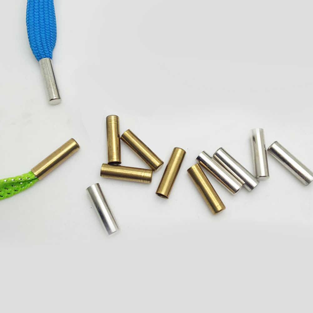 5 шт. 1 компл. 5*18 мм бесшовные металлические шнурки советы шнурок для обуви замены головки ремонт наконечниками DIY пистончики для кроссовок цвет серебристый, золотой