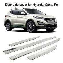 4 Stuks Deur Side Cover Molding Trim Guard Voor Hyundai Santa Fe IX45 2013 2014 2015 2016 Roestvrij Staal