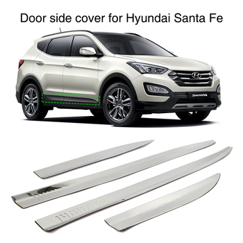 4Pcs Side Door Copertura Stampaggio Trim Guard Per Hyundai Santa Fe IX45 2013 2014 2015 2016 In Acciaio Inox