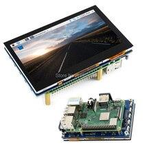 Ahududu Pi 4.3 inç LCD IPS 800x480 USB Kapasitif Dokunmatik ekran Ahududu Pi/4B/3B + 2B + 4.3 inç LCD Çoklu mini PC