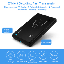 купить RFID Reader 125khz EM4100 USB RFID ID Contactless Sensitivity Access Control Card Support Window System USB Rfid Card Reader по цене 233.17 рублей
