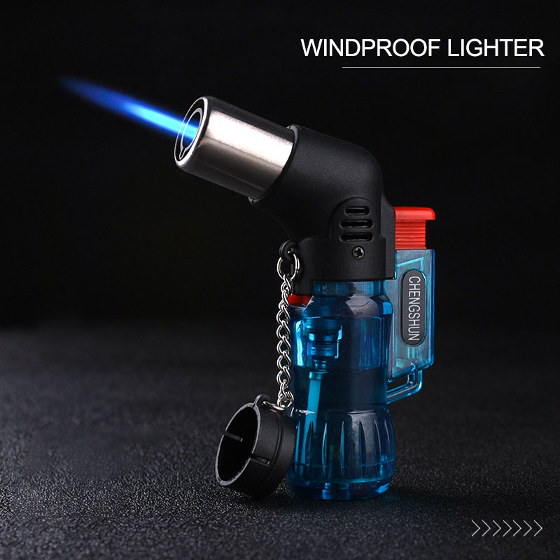 2020 Mini Butane Jet Torch Cigarette Windproof Lighter Random Color Plastic Fire Ignition Burner NO GAS CA