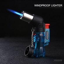 2020 Mini butano Jet antorcha cigarrillo a prueba de viento color plástico aleatorio ignición del fuego quemador sin GAS CA