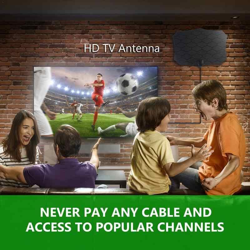 Антенна цифровая HD tv 240 км 1080 P Внутренняя телевизионная антенна ТВ с антенный усилитель Radius Surf HD Mini антенны воздушные TDT