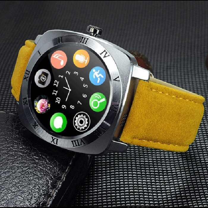 X3 Смарт-часы 3,4 см для Android сенсорный экран Bluetooth Smartwatch Шагомер сна монитор удаленной Камера музыка sim-карты PK