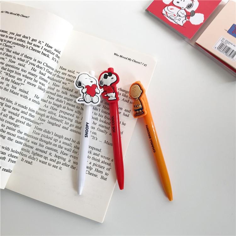SIXONE Creative Cartoon Neutral Pen Cute Rogue Dog Press Neutral Pen 0.5mm Black Pen Signature Pen Student Stationery