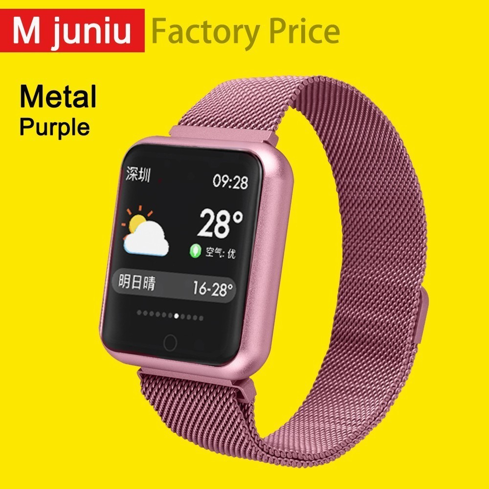 P68 Women men Smart watch Bracelet Heart Rate Monitor Blood Pressure Activity Tracker For Xiaomi Band3 Huawei Color Band  clock