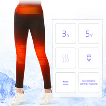 e15787ddb5462 Winter USB Electric Heated Pants Women Hiking Skiing Travel Pants Thermal  Heating Outdoor Trousers Warm Sports