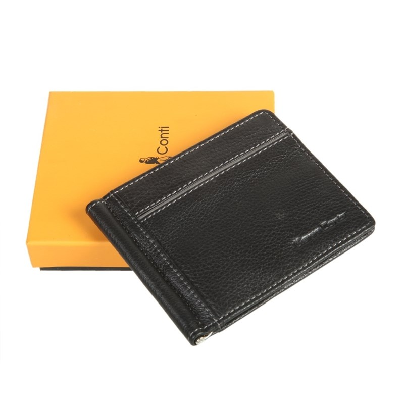 Фото - Money clip Gianni Conti 1817466 black man clutch wallet card leather bag pockets bifold money clip black blue