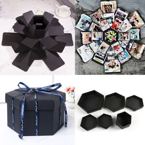 Explosion-Box Wedding-Gift Surprise Cases Hot-Boxes DIY for Valentine's Ladies Scrapbook