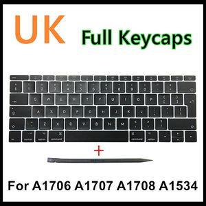 "Image 1 - Faishao New Full Set For Macbook Pro Retina 13""15"" A1706 A1707 A1708 2016 2017 12"" A1534 2017 UK Keyboard Keycaps Key Cap"