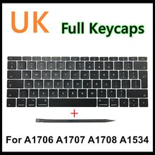 """Faishao Nuovo Full Set Per Macbook Pro Retina 13 """"15"""" A1706 A1707 A1708 2016 2017 12 """"a1534 2017 UK Keyboard Keycaps Tappo Chiave"""