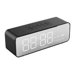 Portable Wireless Bluetooth 4.2 Der Speaker With Alarm Clock Lde Display Screen Music Surround Outdoor Stereo Sound Wate
