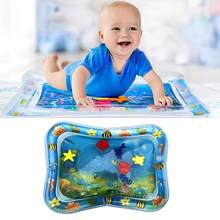 Baby Inflatable Patted Pad - Baby Inflatable Water Cushion - Prostrate Water Cushion Pat Pad Crawling Mat Game Pad Ocean Fish(China)