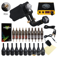 Professional Tattoo Kit Rotary Machines Gun Power Supply Grips Body Art Tools Set Tattoo Permanent Makeup Tattoo set