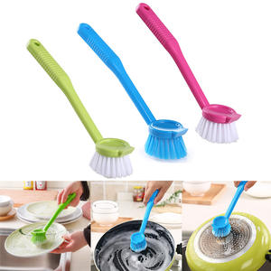 Dishes-Tool Magic-Bowl Washing-Cleaning Plastic Scrubbing Kitchen-Supplies Long-Handle
