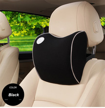 Car Pillow Space Memory Foam Fabric Neck Headrest Covers Vehicular Seat Cover for car