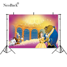 Тонкие виниловые вечерние фоны для фотосъемки с изображением красавицы и зверя, дети, дети, Профессиональные фоны для фотосъемки, студия в помещении