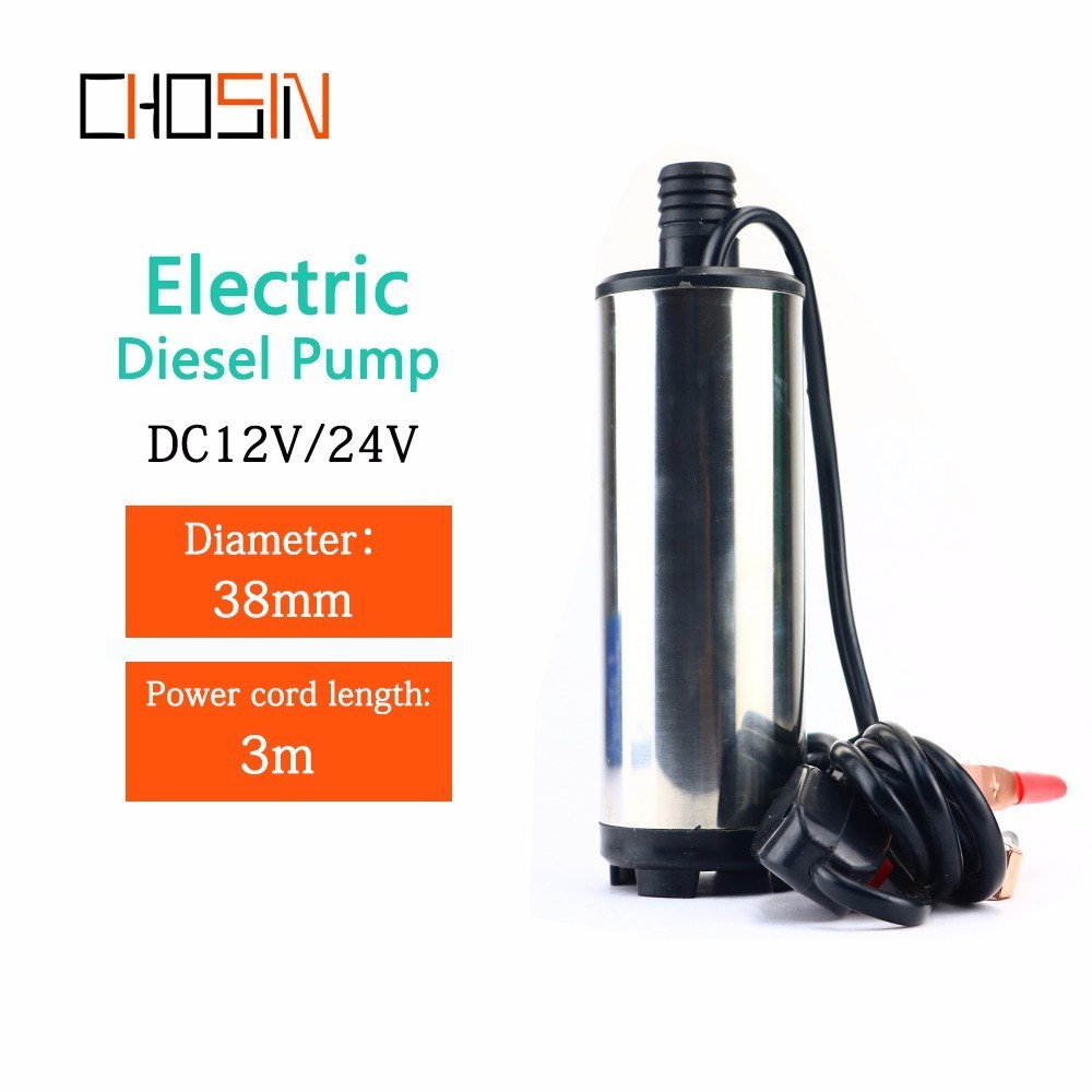 12V 24V DC Electric Submersible Pump ,fuel Transfer Pump,Stainless Steel Shell,12L/min,12 24 V Volt For Pumping Diesel Oil Water