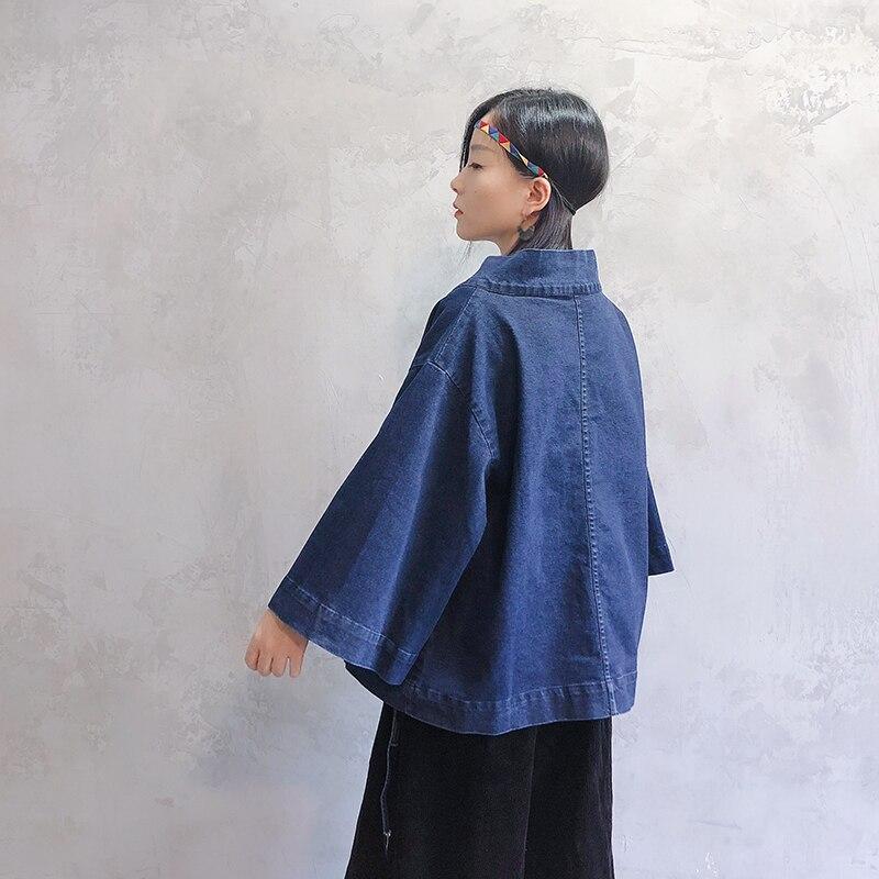 aaf41993a7 V Cuartos Suelto Vestido Tres Nueva La Japonés Blue Lanmrem Abrigo  Chaquetas Manga Denim Estilo Cowboy De Yf61205 Chaqueta Mujer 2018 Cuello  En Moda ...