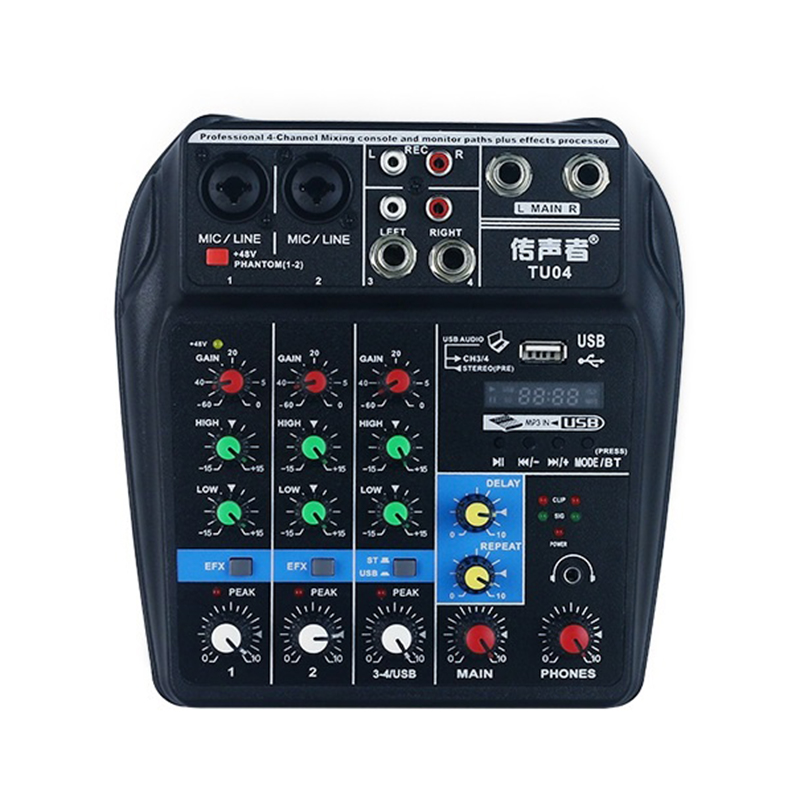 Bluetooth USB And Sound Card Mixer For Recording Voice-Activated Radio