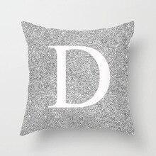 A-M 26Letter Pillow Case Crown 45*45cm Cotton Linen Throw Pillow Cover Letter Decorative Pillowcase Pp Elastic Cotton Pillowcase цена в Москве и Питере