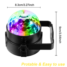 Led Stage Lights Disco Ball Light  Sound Activated Party 6 Colors Remote Control D25