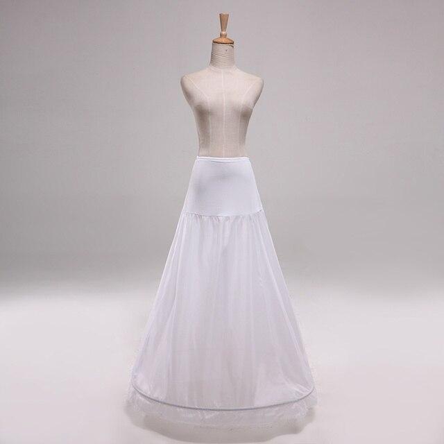 """הגעה חדשה גבוהה מותן 1 חישוק תחתונית, אונליין שמלת כלה, כלה תחתוניות, המניה Vestidos אורך 110 ס""""מ (43.4 '')"""