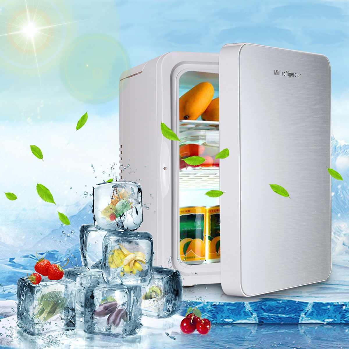 20L переносной мини холодильник 12 В/220 В автомобиль кемпинг домашний холодильник кулер и теплее низкая шум одноядерный хорошее рассеивание т