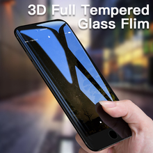 FLOVEME 3D Screen Protector For iPhone 6s 6 Plus Soft Edge Purple Light 7 Tempered Glass Phone