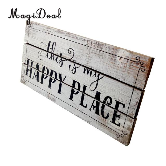 Marvelous MagiDeal Vintage Wooden Plaque Shabby Chic Signs Home Decoration Wooden  Gift Wall Door Hanging Decorative Signs Board
