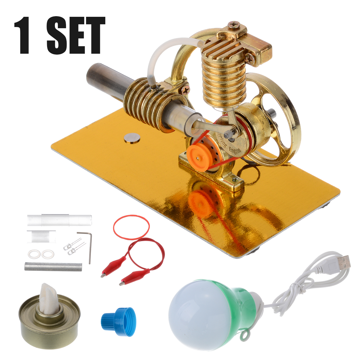 Hot Air Stirling Engine Motor Steam Heat Model Kit DIY Educational Toy Education Kids Toy Science