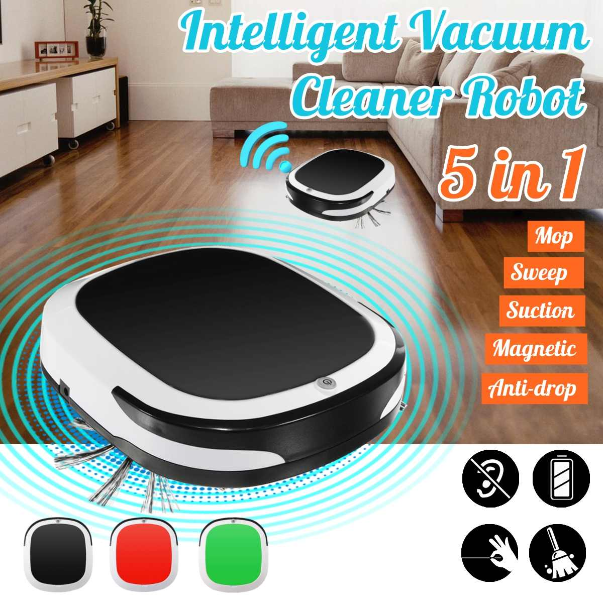 Rechargeable Intelligent Robot Vacuum Cleaner Robot Sweeping Machine 1800pa Low Noise for Home OfficeRechargeable Intelligent Robot Vacuum Cleaner Robot Sweeping Machine 1800pa Low Noise for Home Office