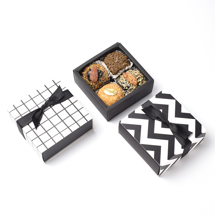 5 Pcs Candy Gift Box Wedding Favor Cookie Chocolate Box Kraft Paper Gift Packaging For Jewellery Present Gift Box Small Drawer
