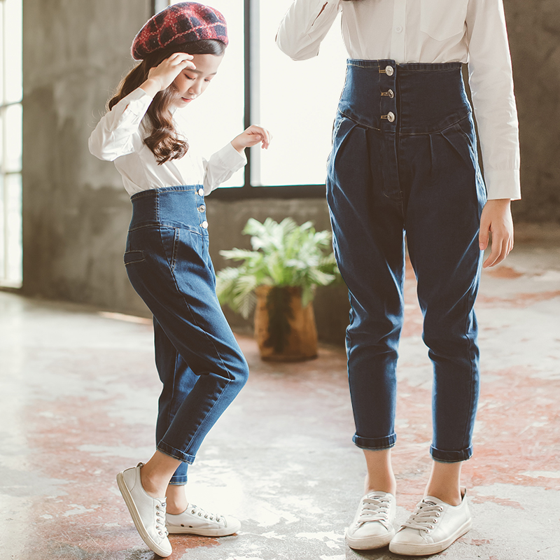 2019 High Waisted Girl Jeans Denim Pant Spring Pencil Trousers Toddler Girl Jeans Elastic Waist Soild Jeans For Kids 7 8 9 10 122019 High Waisted Girl Jeans Denim Pant Spring Pencil Trousers Toddler Girl Jeans Elastic Waist Soild Jeans For Kids 7 8 9 10 12