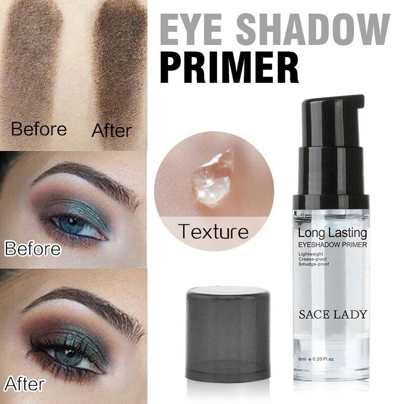 SACE LADY 6ml Natural Professional Cosmetic Eyeshadow Base Cream Long-lasting Eye Shadow Primer Make Up Eye Primer TSLM1