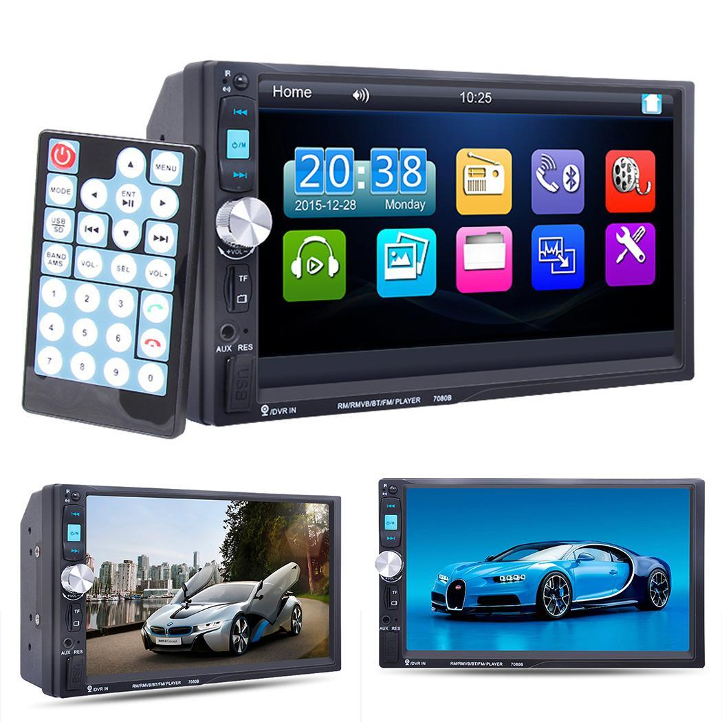 7inch 2 Din Car Radio Car Stereo MP5 Player Touch Screen Car Video Multimedia Player with TF USB GPS FM Bluetooth Camera <font><b>7021G</b></font> image