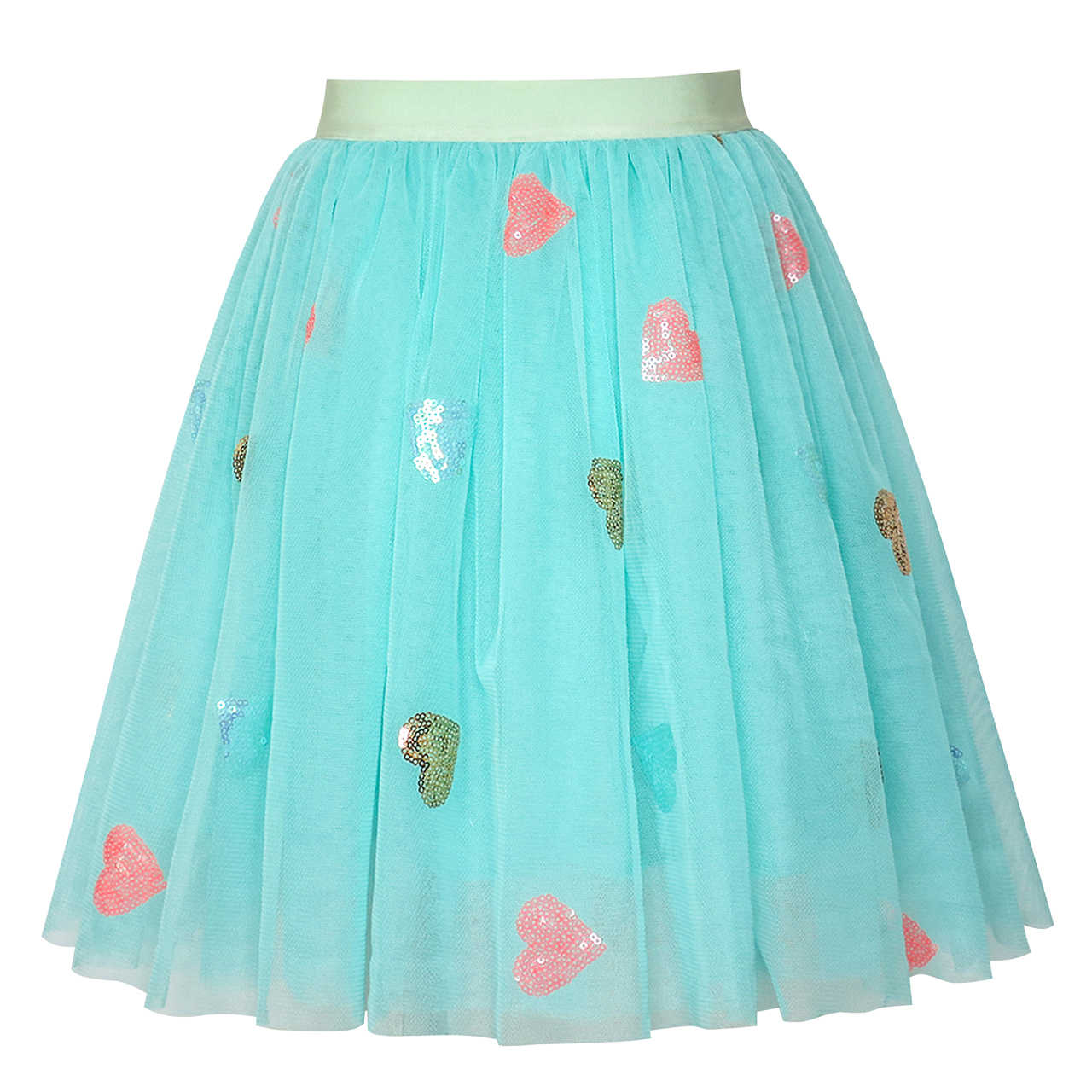 db3fee1f98 Girls Skirt Blue Heart Sequins Sparkling Tutu Dancing 2019 Summer Princess  Wedding Party Dresses Children Clothes
