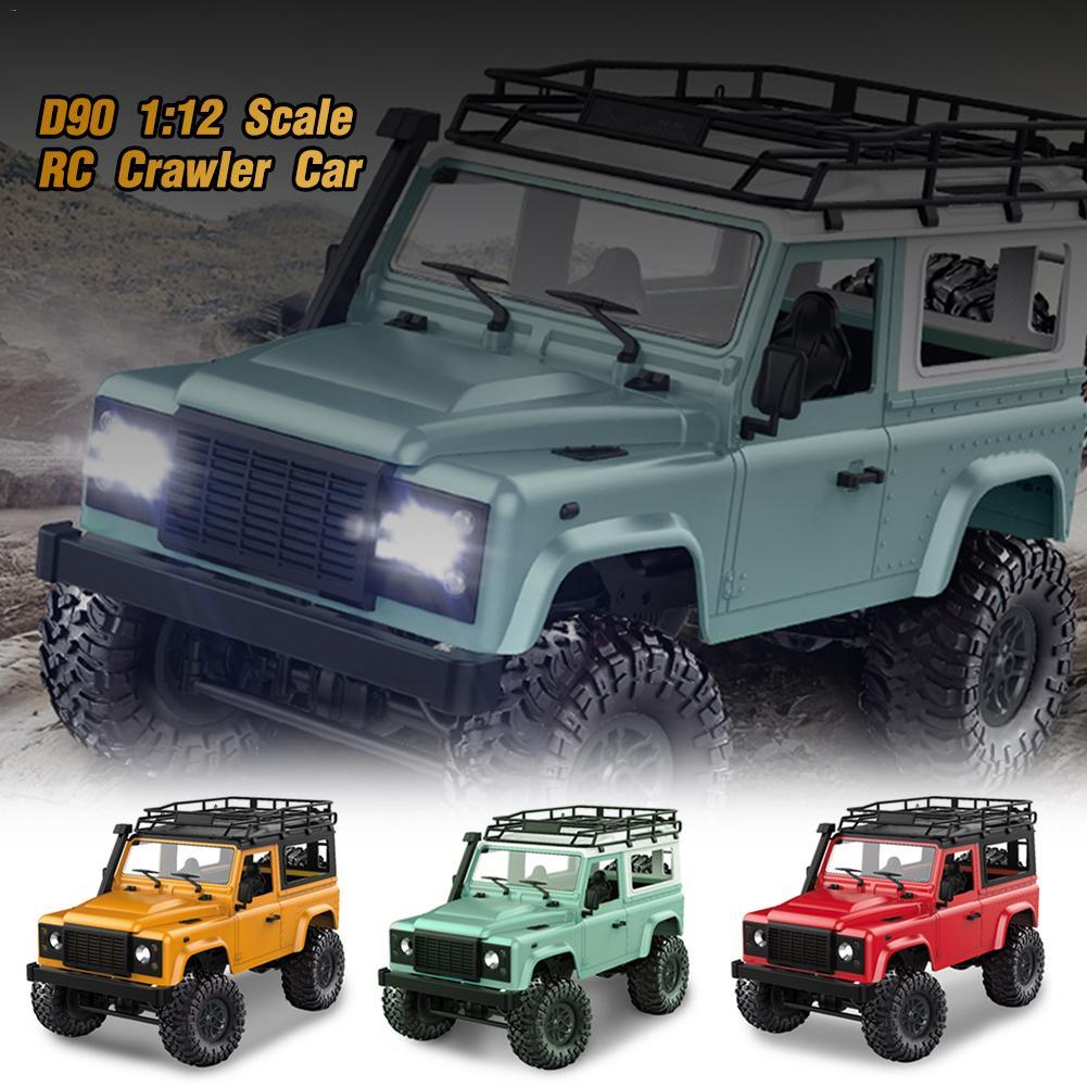 MN modèle D90 1:12 échelle RC chenille voiture 2.4G 4WD camion télécommandé avec lumière LED avant 2 corps coquille toit crémaillère camion sur chenilles