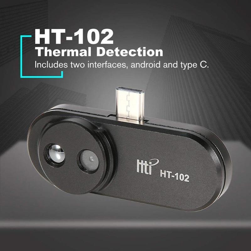 HT-120 téléphone portable externe infrarouge thermique imageur Android téléphone infrarouge caméra thermomètre OTG fonction avec adaptateur imageur