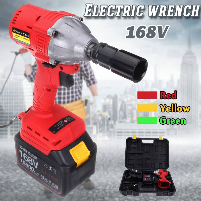 Brushless Cordless Electric Wrench Impact Socket 168V 19800mAh Rechargeable Battery 3 speed gear Hand Drill Power Tools Brushless Cordless Electric Wrench Impact Socket 168V 19800mAh Rechargeable Battery 3 speed gear Hand Drill Power Tools