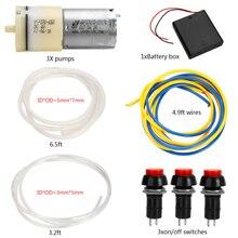 1 Set Mayitr تيار مستمر 6 فولت 9 فولت مضخة هواء صغيرة موزع المحرك نافورة آلة الشراب لتقوم بها بنفسك مضخات نظام الملحقات