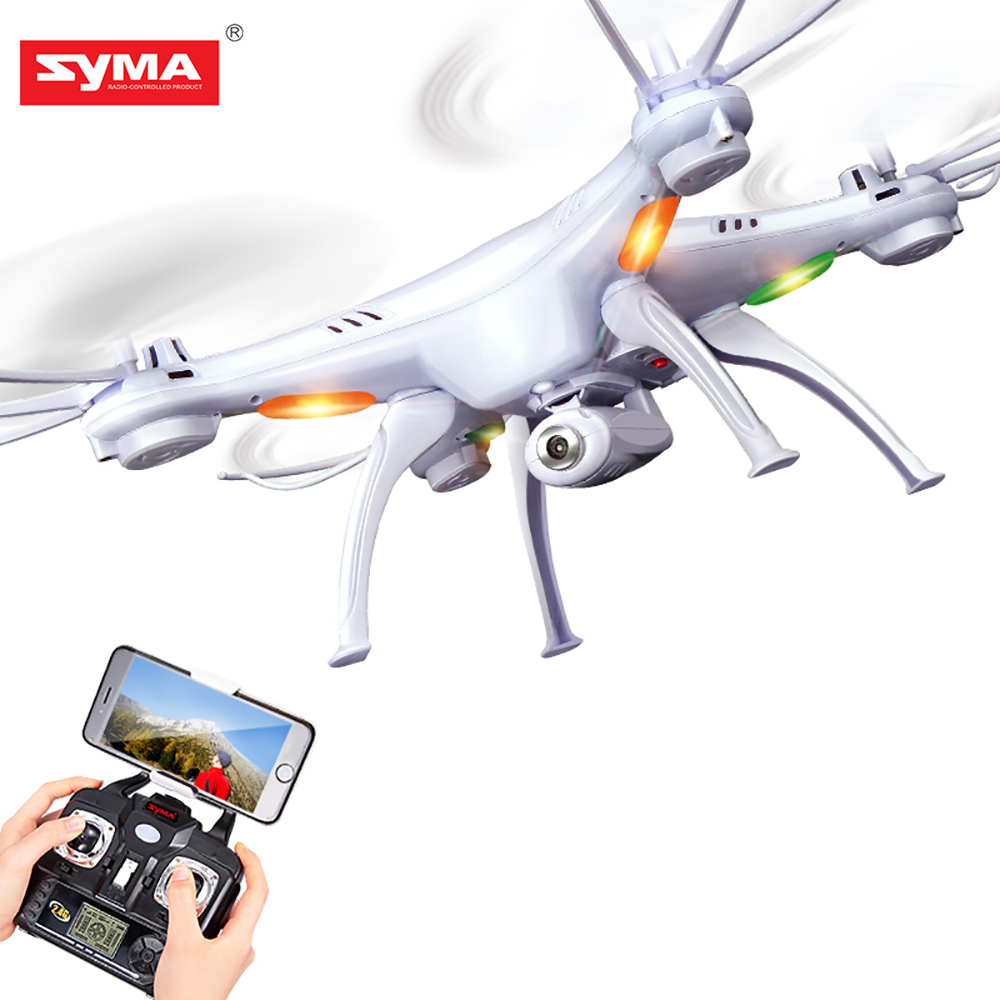 SYMA X5SW Дрон с Wi-Fi камерой в режиме реального времени передача FPV Квадрокоптер (X5C обновление) HD камера Дрон 4CH RC вертолет