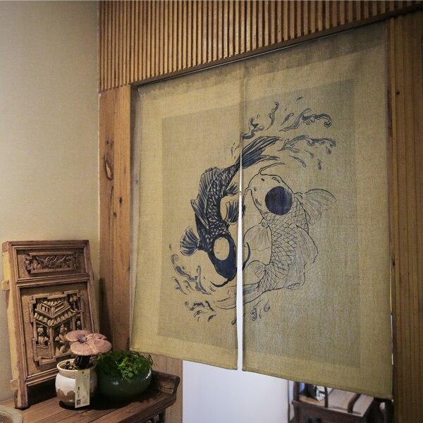 Style japonais porte rideau Restaurant salle de bains feng shui ...