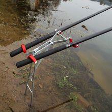 Складной регулируемый двойной полюс кронштейн рыболовные стержень, стойка держатель море рыболовные снасти инструмент аксессуары рыболовные стержень, стойка держатель