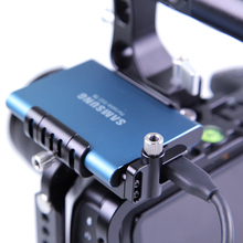 LanParte SSD holder Clamp bracket for Samsung T5 BMPCC 6k 4K Camera with USB-C Cable