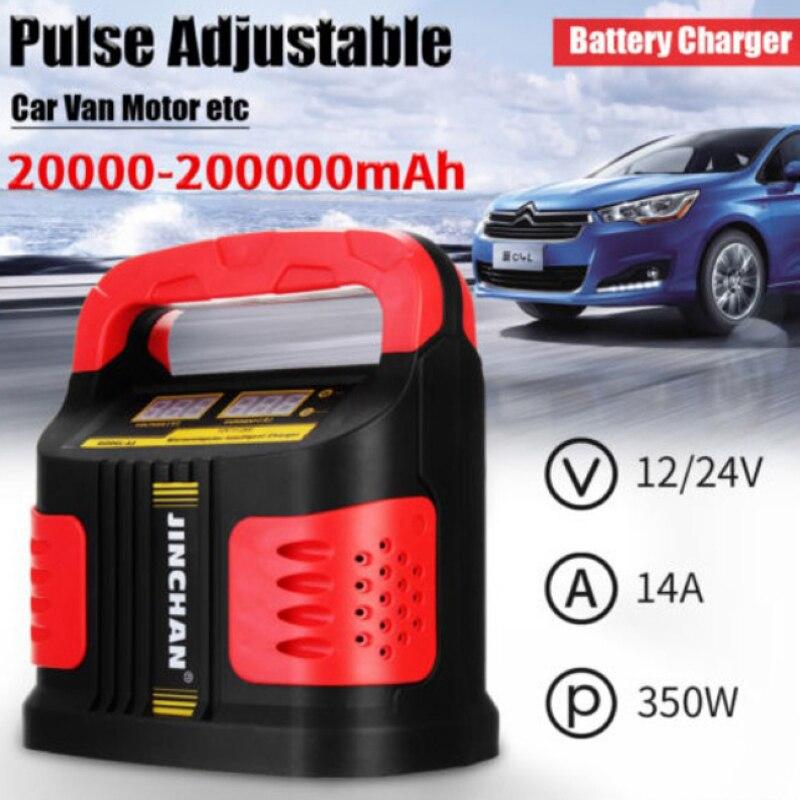 Le Plus nouveau 350 W 12 V/24 V 200A LCD voiture Plus ajuster le chargeur de batterie saut démarreur